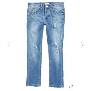Boys Hudson  Distressed Light Wash Denim Jeans 8
